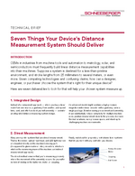 Technical Brief - Seven Things Your Device's Distance Measurement System Should Deliver