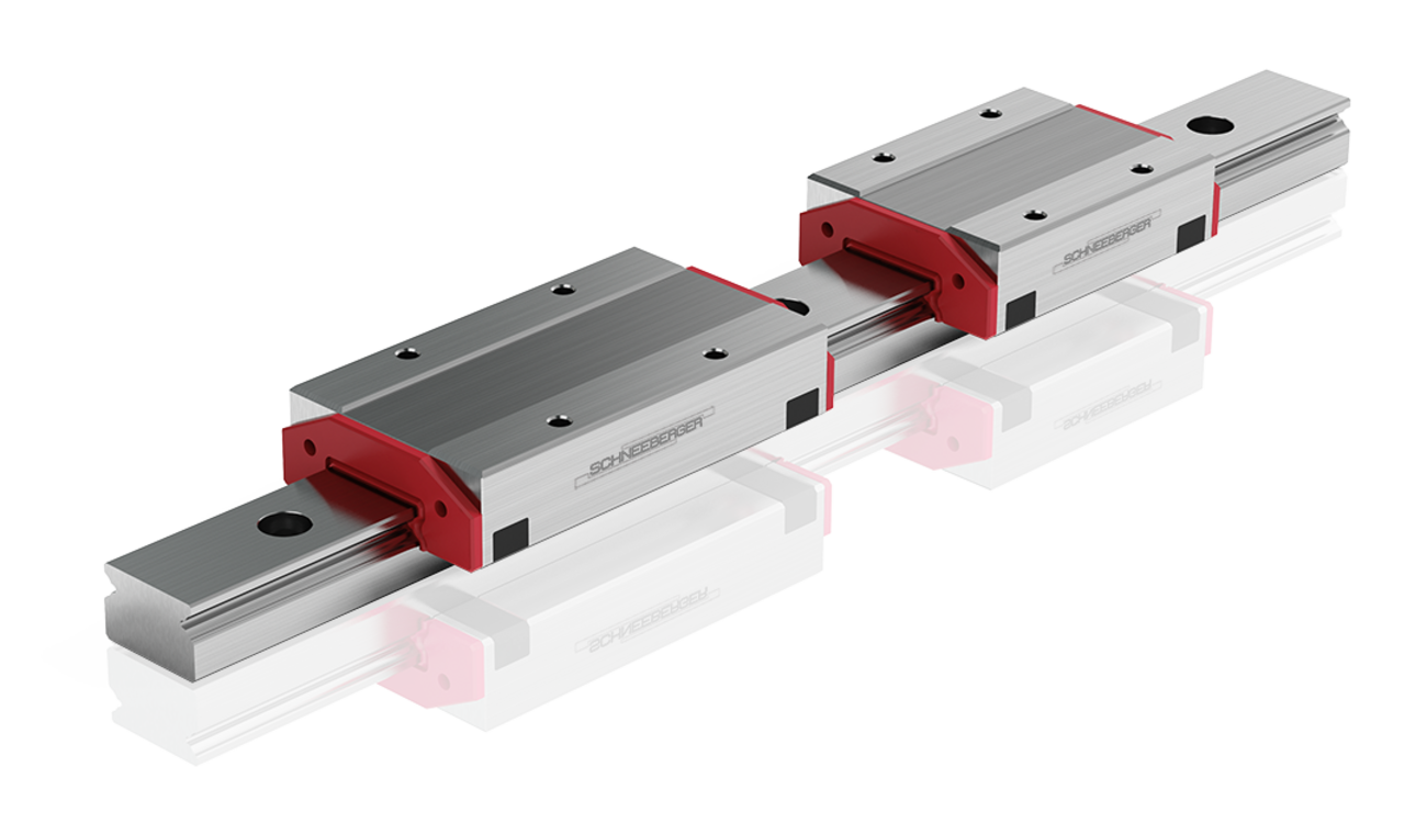 SCHNEEBERGER MINIRAIL – maintenance-free thanks to the integrated lubricant reservoir