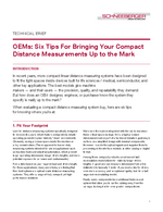 Technical Brief - OEMs: Six Tips For Bringing Your Compact Distance Measurements Up to the Mark