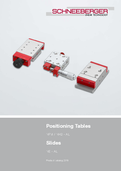 Slides and positioning tables - Product catalog - Positioning Tables NFM, NH2 - AL