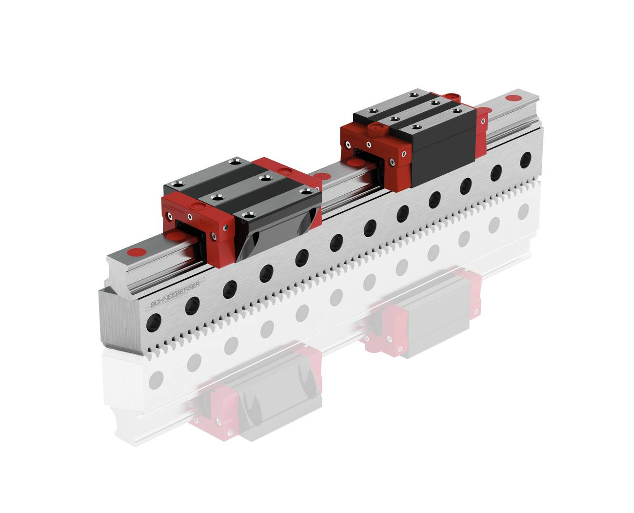 MONORAIL BZ profiled linear guideway with integrated rack drive