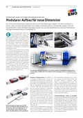 SCNEEBERGER MONORAIL MR profiled linear roller guideways (article in german)